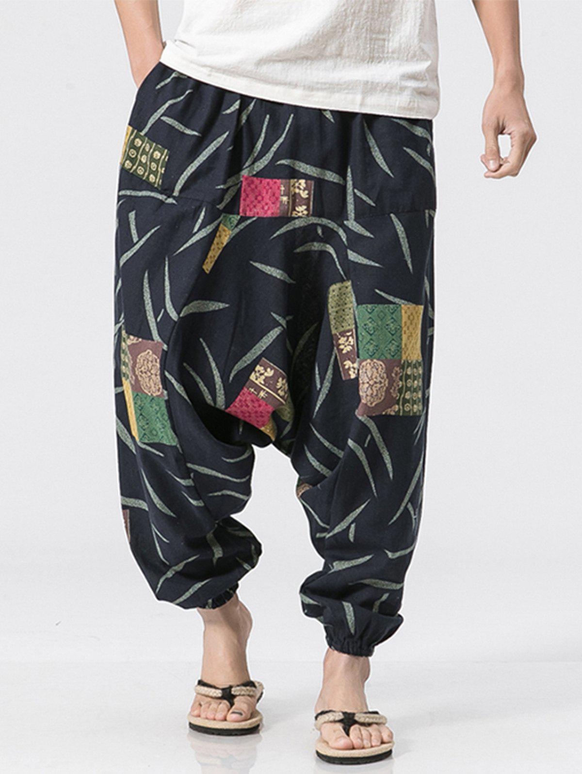 Pantalon Jogging Motif Patch Multicolore XL