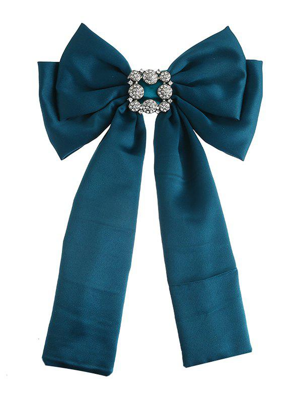 Shop Retro Artificial Gems Inlaid Double-layer Bowknot Corsage Brooch