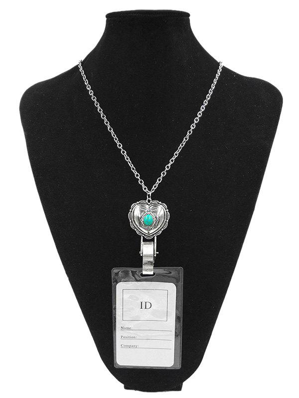 Outfits Alloy Vintage Heart Shape Pendant ID Card Necklace