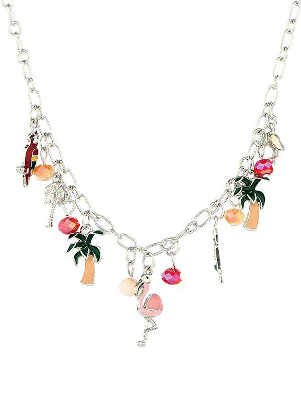Shops Alloy Flamingo Coconut Tree Pendant Necklace