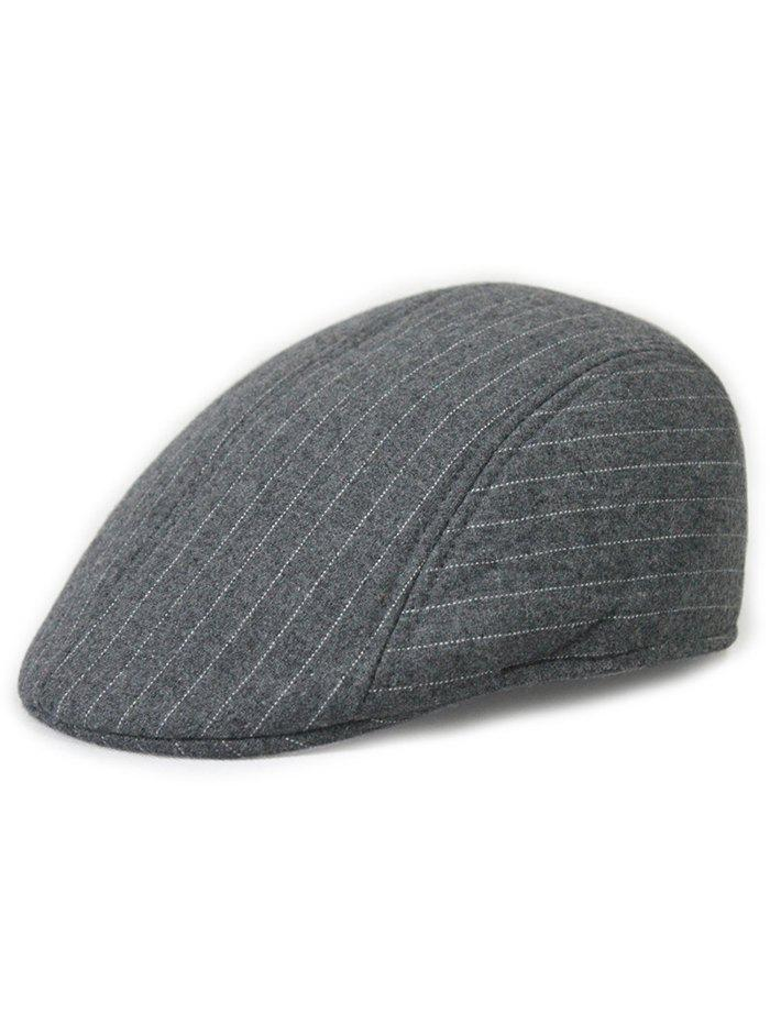Fashion Unique Striped Pattern Embellished Newsboy Hat
