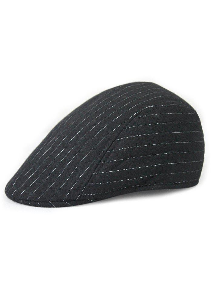 Hot Unique Striped Pattern Embellished Newsboy Hat