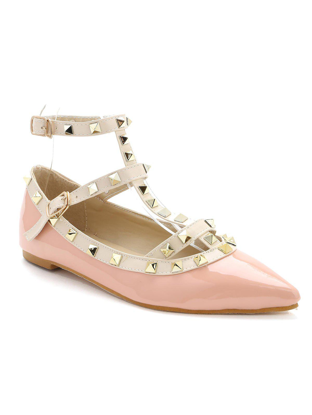 Outfits Rivets Ankle Wrap Flats