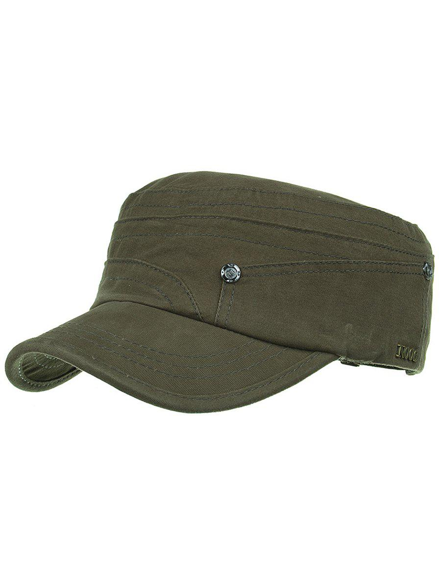Affordable Metal Numbers Pattern Embellished Military Cap