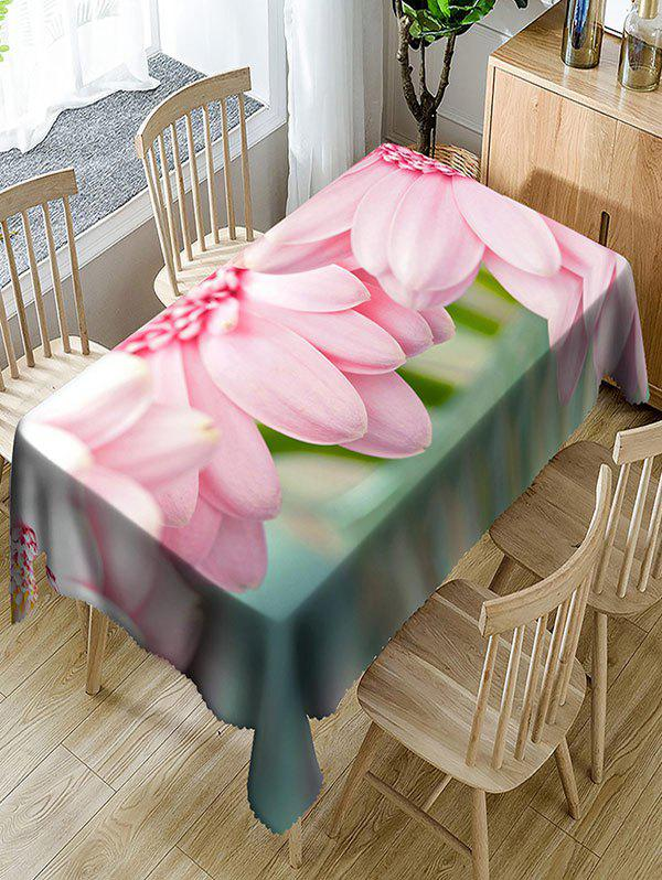 Outfit Flower Print Waterproof Polyester Table Cloth