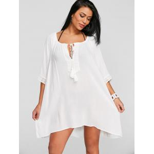Tassel Crochet Trimmed Cover Up Dress -