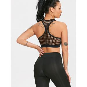 Fishnet Racerback Workout Bra -
