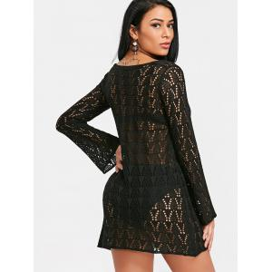 Lace Up Crochet Cover Up Dress -