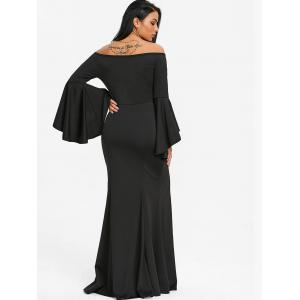 Off The Shoulder haute fente robe de bal -