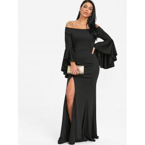 Off The Shoulder High Slit Prom Dress -