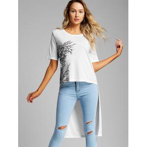 Branch Print High Low Graphic Tee -