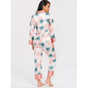 Pineapple Print Satin Pajamas Set -