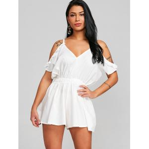 Spaghetti Strap Cold Shoulder Cut Out Romper -