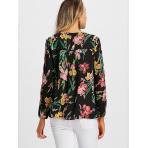 Floral Oil Painting Long Sleeve Blouse -