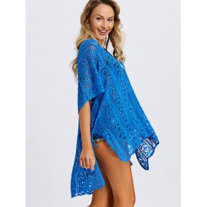 Tassel Slit Crochet Cover Up Top -