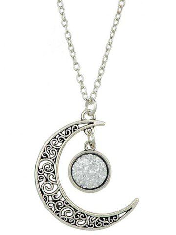 Fashion Round Hollowed-out Alloy Pendnant Necklace