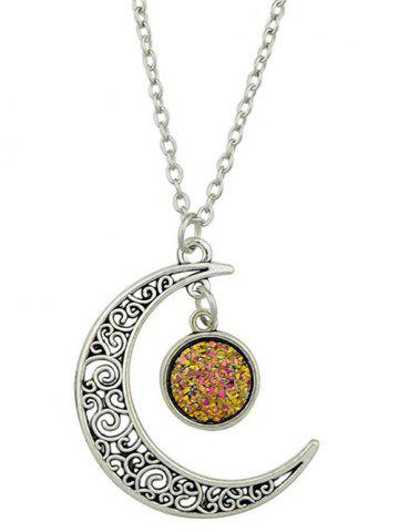 Trendy Round Hollowed-out Alloy Pendnant Necklace