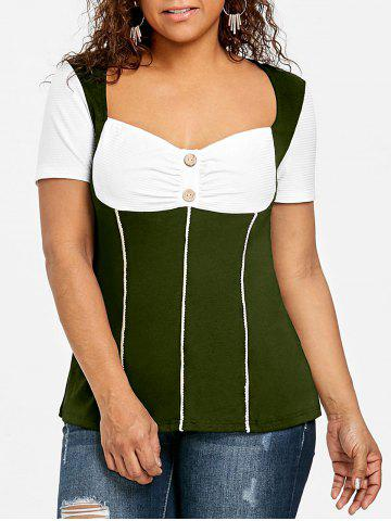 Outfit Plus Size Sweetheart Neck Empire Waist T-shirt