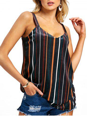 Outfits Spaghetti Strap Striped Tank Top