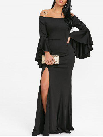 Trendy Off The Shoulder High Slit Prom Dress