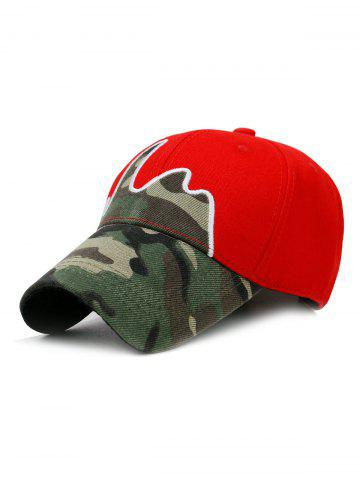 Chic Unique Line Embroidery Camouflage Baseball Hat