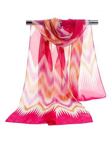 Best Vintage Wave Stripe Pattern Soft Chiffon Scarf