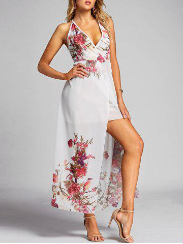 Fashion Smocked Flower Maxi Dress