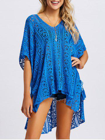 Outfits Tassel Slit Crochet Cover Up Top