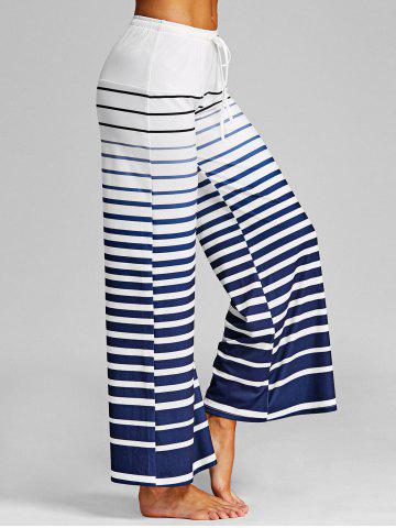 Unique Ombre Stripe Wide Leg Pants