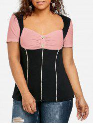 Plus Size Sweetheart Neck Empire Waist T-shirt -