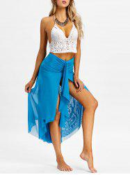 Layered Mesh Bandeau Cover Up Dress -