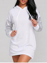 Sequins Embellished Hooded Dress -