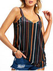 Spaghetti Strap Striped Tank Top -
