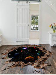 Solar System 3D Broken Floor Sticker For Living Room -