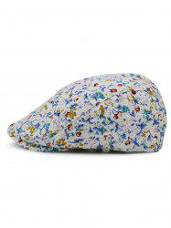 Flourishing Floral Pattern Embellished Newsboy Hat -
