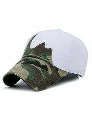 Unique Line Embroidery Camouflage Baseball Hat -