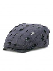 Simple Hollow Hole Pattern Embellished Newsboy Hat -