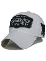 Casquette de Baseball en Coton Motif Inscription -