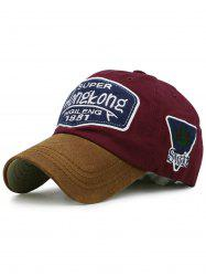 Statement Letter Embroidery Baseball Cap -