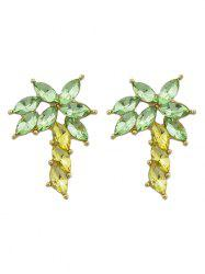 Faux Gem Coconut Palm Jewelry Earrings -