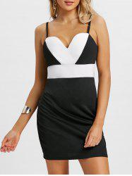 Cami Color Block Mini Party Dress -