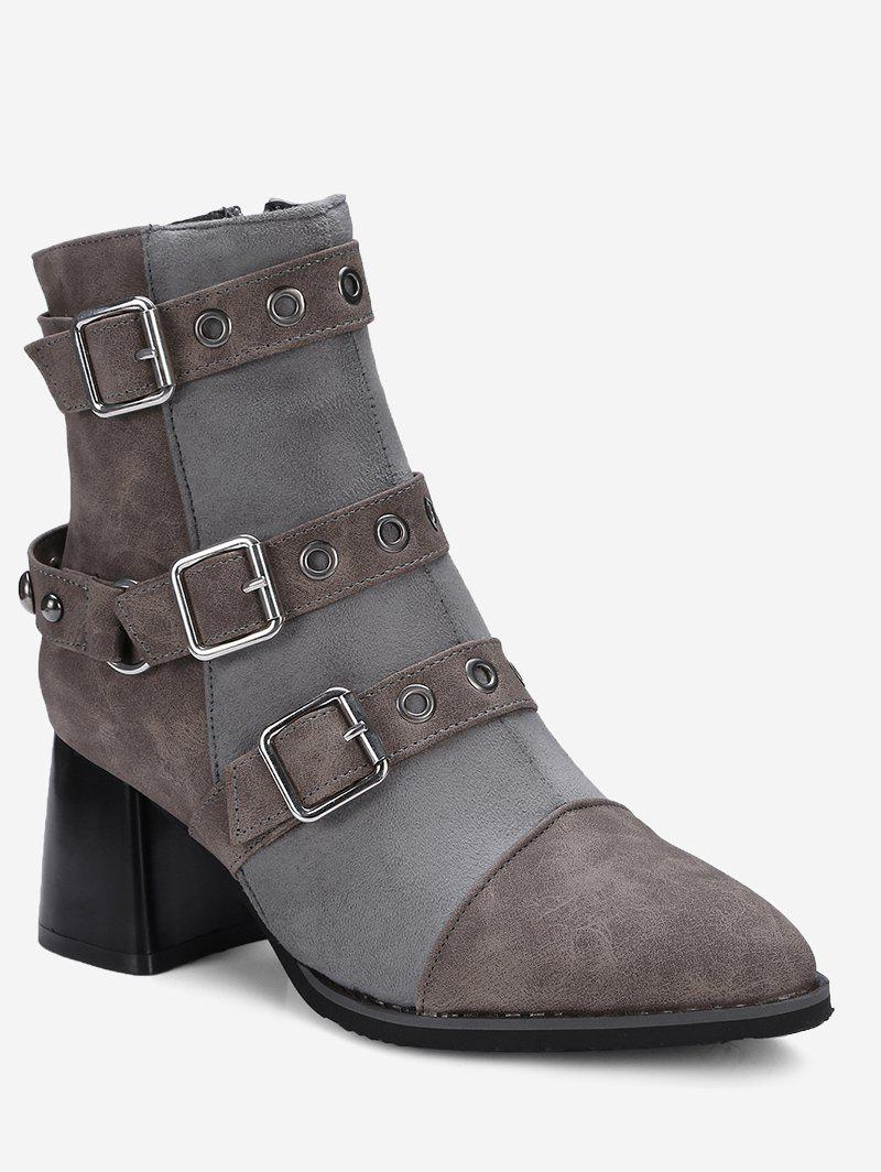 Outfits Ankle Chunky Multi Buckle Straps Boots