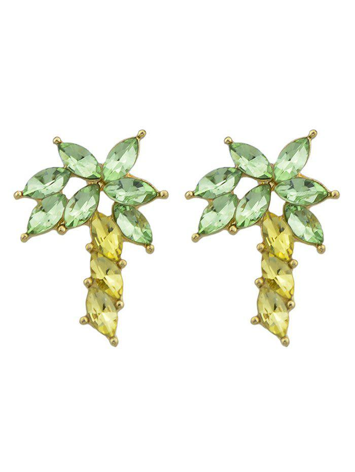 Fancy Faux Gem Coconut Palm Jewelry Earrings
