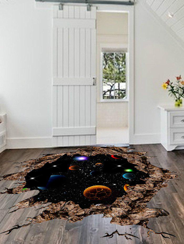 Hot Solar System 3D Broken Floor Sticker For Living Room