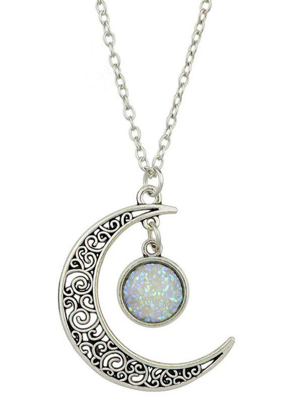 Sale Round Hollowed-out Alloy Pendnant Necklace