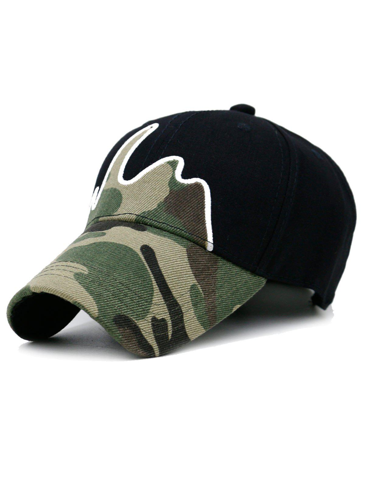 Outfits Unique Line Embroidery Camouflage Baseball Hat