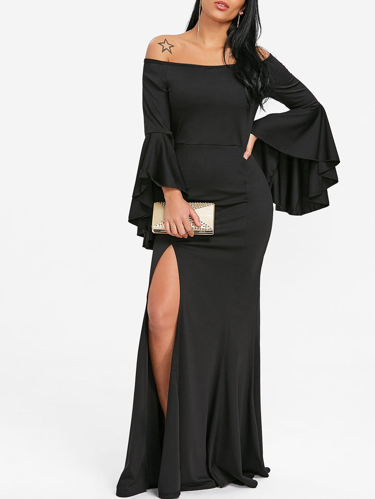Shop Off The Shoulder High Slit Prom Dress