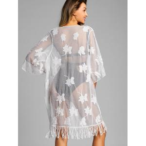 Sheer Lace Fringe Cover Up -