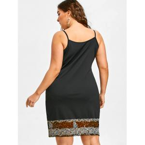 Sequined Trim Plus Size Cami Strap Dress -