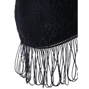 Full Cup Fringed Lace Bra -